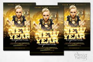 New Year Euphoria Flyer by PrintDesign