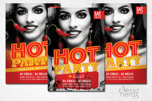 Hot Party Flyer by PrintDesign