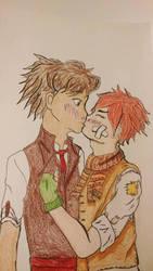first kiss by firemoonhalk