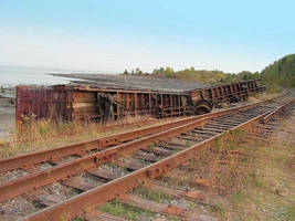 Train Derailment at the Beach by JocelyneR