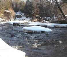 Melting Ice on the River by JocelyneR