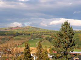Along the Village in Fall by JocelyneR