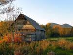 An Old Shed At Sunset by JocelyneR