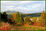 Above the Village in Fall by JocelyneR