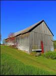 Old Barn in Fall by JocelyneR