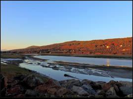 A Bay at Sundown by JocelyneR