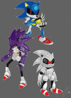 Sonic - Sonic's Clone by Risteing
