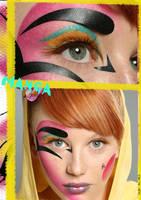manga inspired make-up by yafutoo