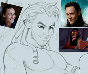 WIP - Scar and Simba by CristianoReina