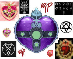 Evil Heart moon compact - wip by CristianoReina