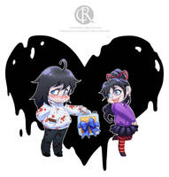 Jeff the killer and Jane the killer by CristianoReina