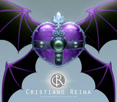 Evil Heart moon compact by CristianoReina