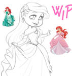 Chibi Ariel - wip by CristianoReina