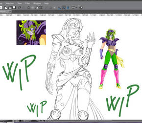 Tisifone wip by CristianoReina