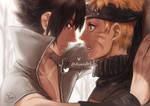 Sasuke x Naruto - Sasunaru by DeerAzeen