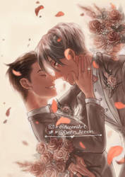 Vikturi wedding - Yuri on Ice by DeerAzeen