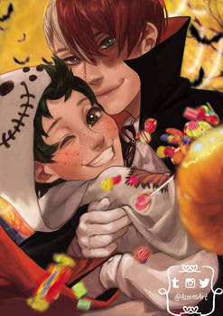 Boku no Hero academia - Tododeku Halloween by DeerAzeen
