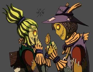 Scarecrows by HorusOniArts