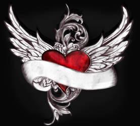 Winged Heart Tattoo by SwiftlakerREBORN