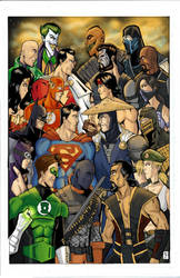 Mortal Kombat vs. DC Universe Cover by wburton19