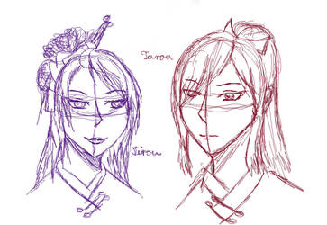 The Oodachi brothers - Sketch by SelenaNova