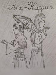 Ame-Kappuru (Rain-Couple) - Fanfiction cover by SelenaNova