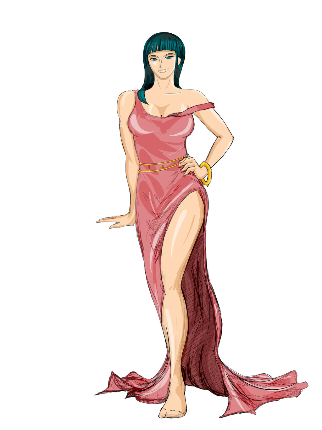 The Lovely Nico Robin part 6 b by geneforson