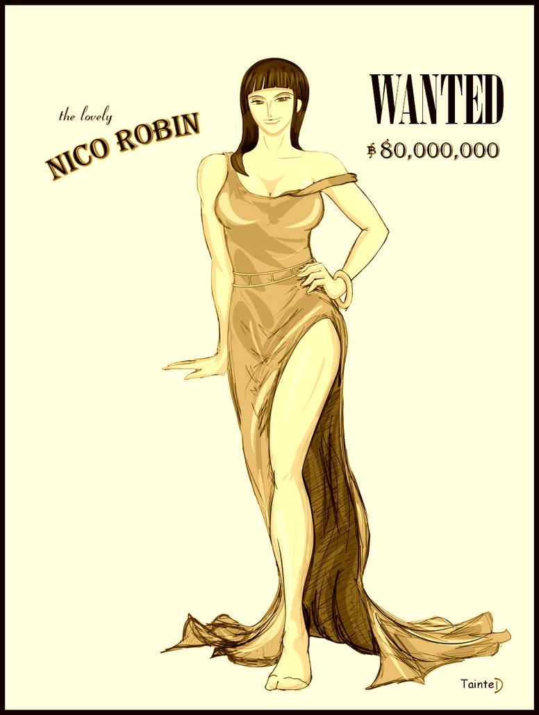 The Lovely Nico Robin WANTED by geneforson