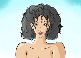 Kayla Green (w/black hair) by geneforson