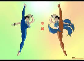 Chun Li Rage Kick Duo by geneforson