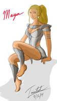 Maya - Killer Instinct ~ In progress by geneforson