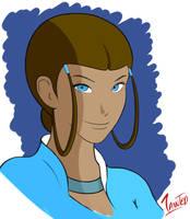 Katara the Water Bender_ Avatar-The Last Airbender by geneforson