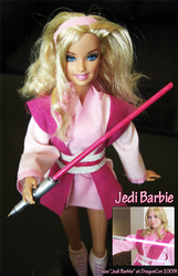 Secret Santa Gift: Jedi Barbie by PosiTori