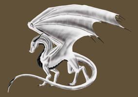 Shiryu the albinotic dragonlady by Shiryuakais