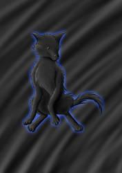 Cute black wolf Dune by Shiryuakais
