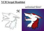 YCH Sergal Headshot by Shiryuakais