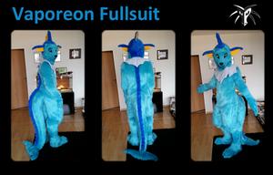 Vaporeon Fursuit by Shiryuakais