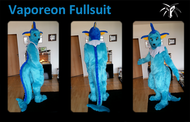 Vaporeon Fursuit by Shiryuakais
