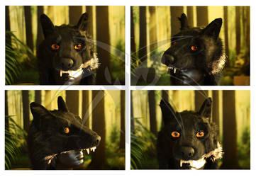 Black Wolf Headdress by Shiryuakais