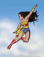 Wonder Woman Flying by rockie-squirrel