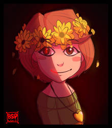 Chara with flowers by Blustarpilot