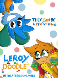 Leroy and Doodle Movie Poster by JustSomePainter11