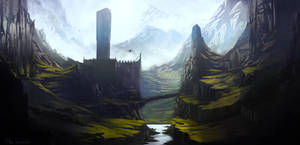 The Obelisk by HazPainting