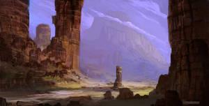 Concept Fantasy Landscape by HazPainting