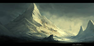 Lonely Mountain by HazPainting