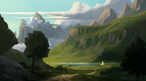Landscape Sketch by HazPainting