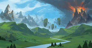 Valley Of Gods by HazPainting
