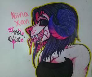 FANART: Niina Xann by KenaDirewolf