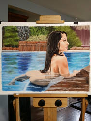 Poolside with Holly by ArtbyJOgle