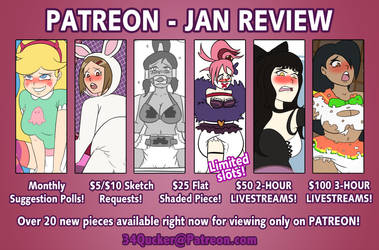 34Qucker PATREON Review - January 2019 by 34Qucker